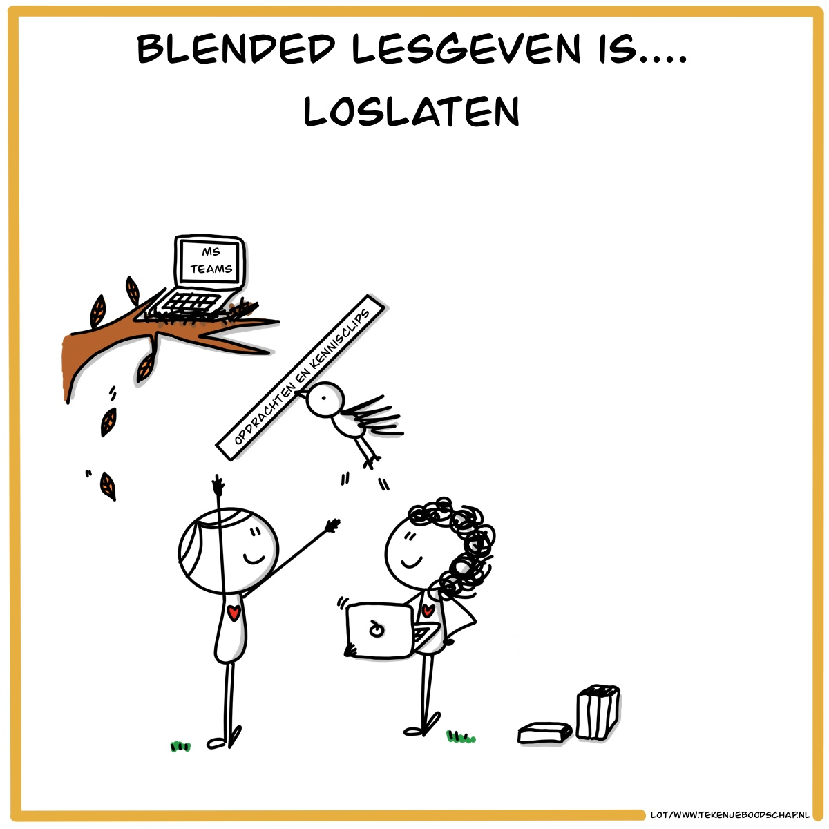 """Featured image for """"Blended lesgeven is . . . loslaten"""""""