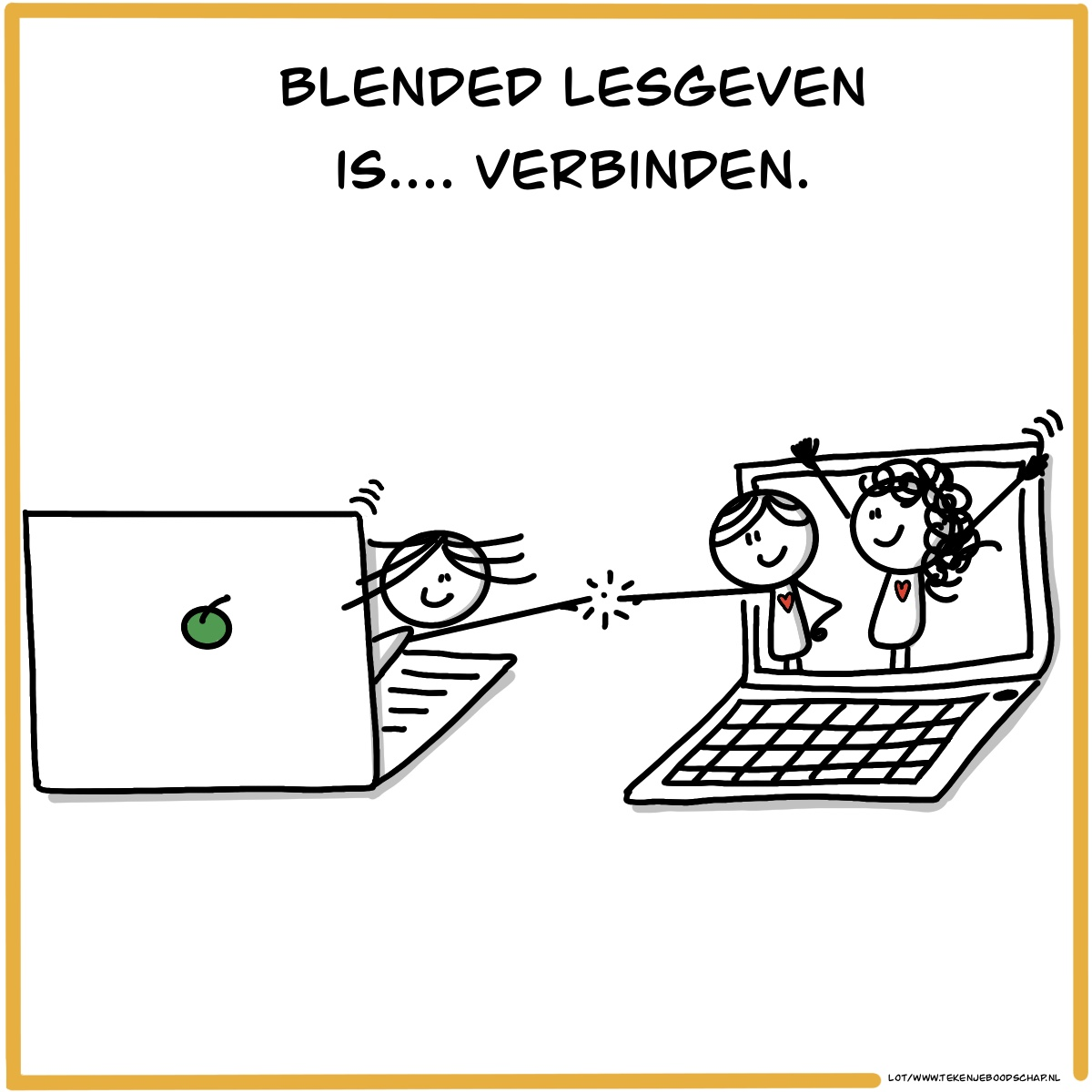 """Featured image for """"Blended lesgeven is . . . . verbinden"""""""