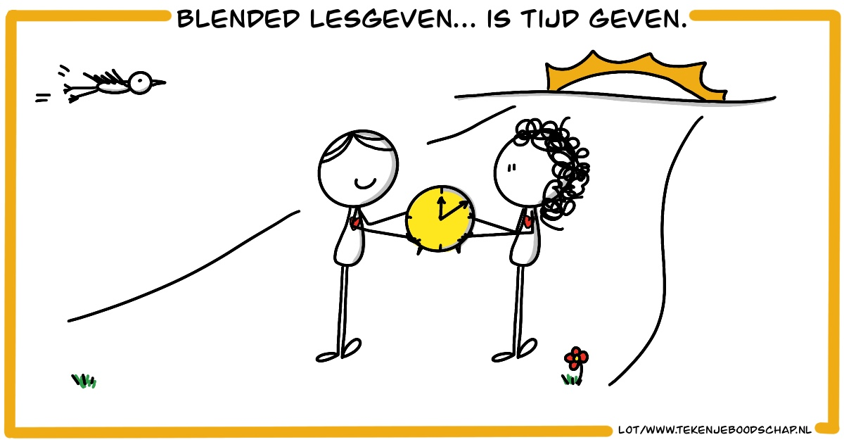 """Featured image for """"Blended lesgeven is . . . tijd geven"""""""
